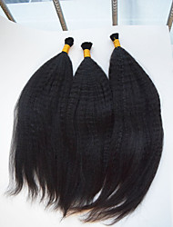 3pcs/lot Kinky Straight 10-28 Bulk Hair Unprocessed Brazilian Virgin Hair Kinky Straight Human Braiding Hair Bulk