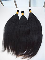 Cabelo Humano Ondulado Cabelo Brasileiro Yaki 6 meses 3 Peças tece cabelo