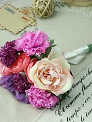 """Bouquets de Noiva Forma-Livre Peônias Buquês Festa / noite Flôr Seca 7.48""""(Aprox.19cm)"""