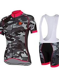 Esportivo Camisa com Bermuda Bretelle Mulheres Manga Curta MotoRespirável / Secagem Rápida / Design Anatômico / Resistente Raios