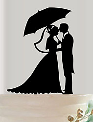Acrylic couples the bride and groom wedding cake inserted fine decoration birthday cake inserted card