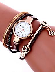 New Fashion Hot Colorful Vintage Women Watches Weave Wrap Rivet Leather Bracelet Wristwatches Quartz Watch