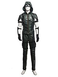 Costumes de Cosplay Superhéros Cosplay de Film Noir Couleur Pleine Manteau / Gilet / Pantalon / Brassard / Gants / Plus d'accessoiresNoël