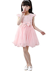 Girl's Casual/Daily Solid Dress,Chiffon Summer Short Sleeve