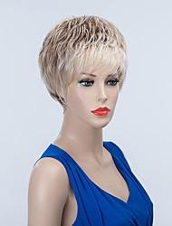 texture légèrement courte capless perruques de cheveux humains onduleux naturel