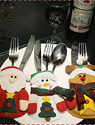 1Cover3Pcs) 3Different Christmas Ornament Styles Newfangled Have A Festive Mood Christmas knives And Forks Cover