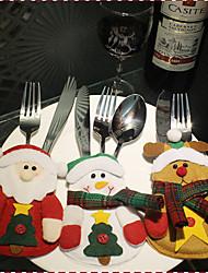 1cover3pcs) 3different рождественские стили украшения новомодных имеют праздничное настроение рождественские ножи и вилки крышку