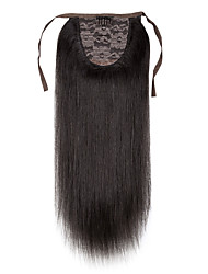 24 einfache Abnutzung 100% real menschliches Haar hohen Pferdeschwanz 1pc 100g 7a Grad