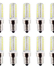 3.5 E14 Двухштырьковые LED лампы T 64 SMD 2835 320-340 lm Тёплый белый / Холодный белый Регулируемая / Водонепроницаемый AC110 / AC220 V