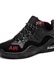 Femme-Décontracté / Sport-Noir et rouge / Noir et blancConfort-Chaussures d'Athlétisme-Nylon / Similicuir
