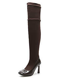 Women's Boots Fall / Winter Patent Leather / Customized Materials Party & Evening / Dress / Casual Chunky Heel Split Joint