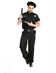 Police Festival/Holiday Costumes Top / Pants / Belt / Hats Male Polyester