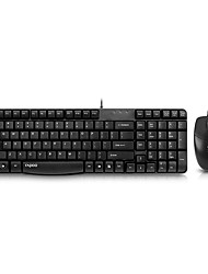Rapoo X120 Wired USB Waterproofed Keyboard and Mouse Set Combos For PC Laptop