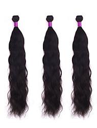 Tissages de cheveux humains Cheveux Vietnamiens Ondulation Naturelle 3 Pièces tissages de cheveux