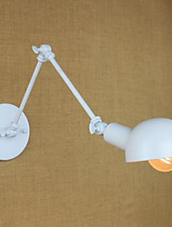 White Double Festival Wall Lamp Wrought Iron Long Arm