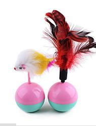 Brinquedo Para Cachorro / Brinquedo Para Gato Brinquedos para Animais Brinquedo com Penas Copo Cor Aleatória Plástico / Felpudo