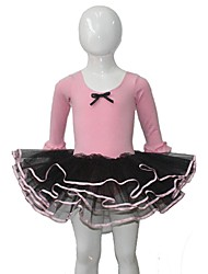 Ballet Dresses Women's / Children's Performance Cotton / Tulle / Lycra Bow(s) / Ruffles 1 Piece 3/4 Length Sleeve Tutus