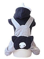 Dog Clothes/Jumpsuit Blue / Pink / Gray Dog Clothes Winter / Spring/Fall Cartoon Keep Warm
