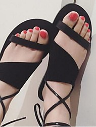 Women's Sandals Comfort Suede Casual Black / Brown