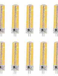 10pcs YWXLight® Dimmable G4 15W 136 SMD 5730 1200-1400 LM Warm White / Cool White Corn Bulbs AC 110V / AC 220V