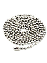 Necklace Jewelry Daily / Casual Basic Design / Circular Design Stainless Steel / Steel Men 1pc Gift Silver