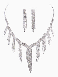 Personal Rhinestone Tassel Necklace Set