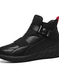 Women's Sneakers Winter Comfort Leatherette Outdoor / Athletic / Casual Flat Heel Others Black / Silver Others