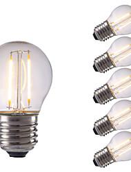 2W E26/E27 LED Glühlampen P45 2 COB 250 lm Warmes Weiß / Kühles Weiß AC 220-240 V 6 Stück