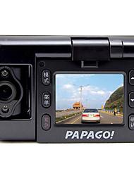 "PAPAGO GS100 novatek 96632 HD 1280 x 720 DVR Car 2.0 Polegadas Tela Aptina0330 1Mega Pixels 1/4"" CMOS traço Cam"