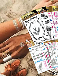 18 Tattoo Stickers Jewelry Series / Animal Series / Flower Series / Totem Series / Others / Cartoon Series / Romantic SeriesNon Toxic /