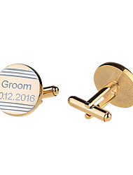 Groom Groomsman Ring Bearer Gifts Piece/Set Cufflinks & Tie Clips Classic Modern CreativeWedding Anniversary Birthday Congratulations