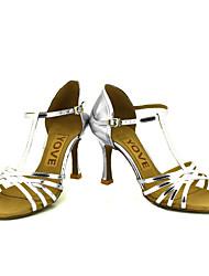 Obyčejné-Dámské-Taneční boty-Latina / Salsa-Třpytky-Na zakázku-Černá / Modrá / Růžová / Červená / Stříbrná / Zlatá