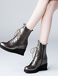 Women's Boots Fall / Winter Others Cowhide Casual Black / Dark Gray