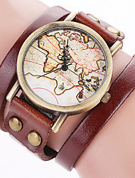 Women's Fashion Watch Wrist watch Bracelet Watch Quartz Punk Colorful Large Dial Leather BandVintage Candy color Bohemian Charm Bangle