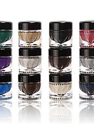 12 Paleta de Sombras Secos Paleta da sombra Creme Normal Maquiagem para o Dia A Dia