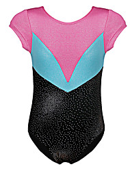 Gold Foiled Sleeveless Toddler Girls Ballet Leotards Athletic Dance Gymnastics Leotards Acrobatics for 3-12 Y Kids