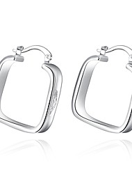 Earrings Set Sterling Silver Silver Plated Fashion Silver Jewelry Wedding Party Daily Casual 1 pair