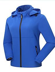Wandern Windjacken / Softshell Jacken / Oberteile Damen Wasserdicht / warm halten / Windundurchlässig Frühling / Herbst / Winter Polyester