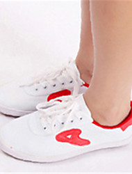 Non Customizable Women's Dance Shoes Canvas Canvas Dance Sneakers Flats Flat Heel Practice Black / Red / White