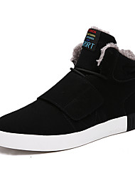 Men's Popular Sneakers Flocking Comfort Suede Leather Outdoor/Casual Walking High Top Youth Warm Shoes
