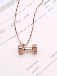 Necklace / Pendant Necklaces Jewelry Daily / Casual / Christmas Gifts Others Basic Design / Fashion Alloy Women 1pc GiftBlack / Silver /