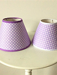 Cloth lamp shade/purple/purple dots desk lamp