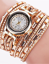 Women's Fashion Watch Wrist watch Bracelet Watch Quartz Punk Colorful Luminous PU BandVintage Sparkle Candy color Bohemian Charm Bangle