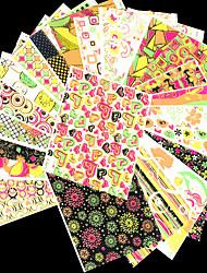 24PCS Nail Sticker Art Autocollants de transfert de l'eau Maquillage cosmétique Nail Art Design