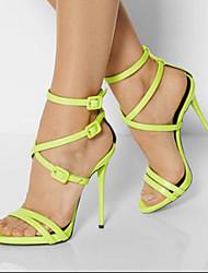 Feminino-Saltos-Sapatos com Bolsa Combinando-Salto Agulha-Verde-Courino-Escritório & Trabalho / Casual / Festas & Noite