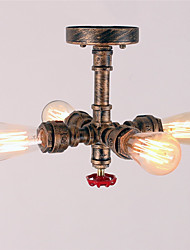 Vintage Industrial Metal Water Pipe Ceiling Lamp Flush Mount Loft Entry Hallway Game Room Kitchen light Fixture