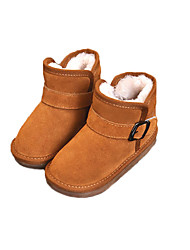 Boy's Boots Winter Others Comfort Leather Casual Magic Tape Black Brown Camel