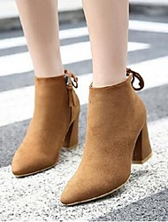 The new autumn and winter women's boots short boots thick with wild pointed high-heeled leather ankle boots Martin boots single
