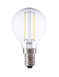 2W E14 LED лампы накаливания P45 2 COB 250 lm Тёплый белый / Холодный белый AC 220-240 V 1 шт.