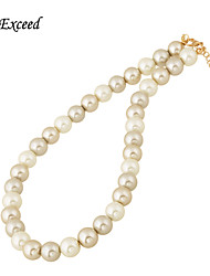 Top Grade Imitation White Gold Gray Pearl Beads Luxury Elegant Choker Necklace